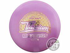 New Discraft Titanium Buzzz Os 175-176g Purple Static Foil Midrange Golf Disc