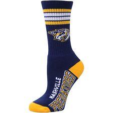 Nashville Predators Crew Socks Large Size 10 to 13    4 Stripe