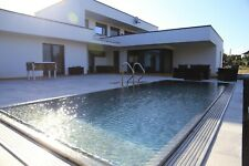 Stainless Steel Swimming Pool with overflow gutter 9,0 x 2,6 x 1,3 [m]