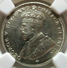 STRAITS SETTLEMENTS Malaysia Britain 20 cents 1919 B NGC MS 62 UNC ERROR