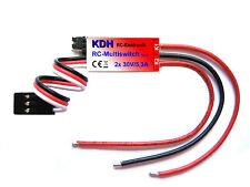 Multiswitch V2, 2 Kanal RC Schalter, 2x 30V/5,3A, Schaltmodul, Switch