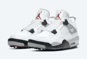 Jordan 4 G Golf Shoes White Cement Mens Size 14 Cleats Nike Air CU9981-100 New