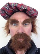 écossais Moustache et barbe rousse SOURCILS ACCESSOIRE DÉGUISEMENT