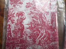 Cranberry Red Gift Wrap Tissue Paper, Toile design, 240 Sheets Wholesale Lot