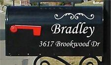 10x20 LARGE Mailbox Letters SET OF 2 Name Number & Street Name Custom Mailbox
