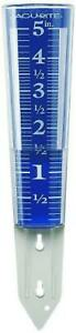 Acurite 5-Inch Capacity Easy Read Magnifying Rain Gauge Blue12.5-Inch NEW