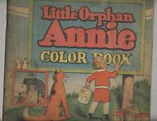 Little Orphan Annie Color Book 1930 VG