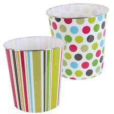 JVL Retro Plastic Coloured Spots Waste Paper Bin - 25 X 26.5 Cm