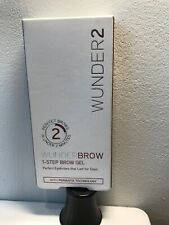 New Wunderbrow With Permafix Wunder2 1-Step Brow Gel - Brunette -Worldwide Ship!