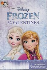 New DISNEY FROZEN 32 VALENTINE'S DAY CARDS ~ FREE SHIPPING