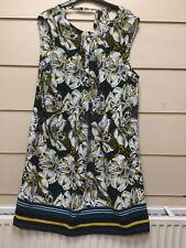 Papaya Size 16 Sleeveless Yellow Floral Dress (lotjm163)