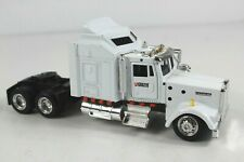New Ray Kenworth W900 Tractor Supply Semi Truck Tractor Trailer White Die Cast