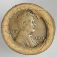 1914-S VF WHEAT / BU WHEAT END ~ LINCOLN WHEAT CENT ROLL ~ VINTAGE ESTATE