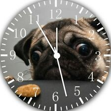Cute Funny Pug Frameless Borderless Wall Clock For Gifts or Home Decor E208