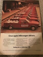 1982 VOLKSWAGEN VW DELIVERY PICKUP TRUCK Print Ad OKLAHOMA CITY TIMES RARE