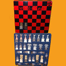 2002 WILD CHESS ANIMALS OF AFRICA COLLECTABLE SET GAME PIECES BOXED BEN HOMER