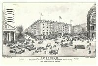 1905 Astor House Hotel Broadway Horse Buggies Carriages NYC Postcard Posted 1910
