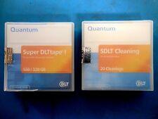 Quantum SDLT Cleaning-20 Cleanings  & Quantum Super DLTape I 160/320 GB Lot of 2