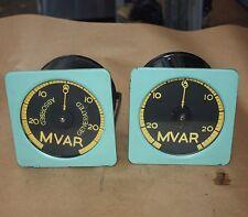 Antique Vintage Steampunk Collectors Gauge Meter 0-25 MVAR 145mm black ylw face