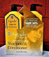 Agadir Argan Oil Daily Moisturizing Shampoo and Conditioner LITER DUO Free Shipp