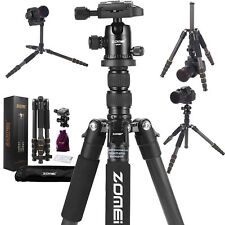 Zomei Q666c Pro Portable Carbon Fibre Tripod Monopod Ball Head for DSLR Camera