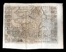 old and original engraved MAP-FRANCE 17/18 Th.