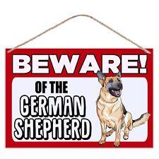 Beware of The German Shepherd - Large Metal Plaque Sign 30x20cm Dog