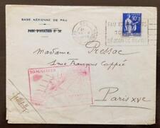 FRANCE 1ère liaison aérienne de nuit PARIS-PAU 10 mai 1939 N°368 seul sur lettre
