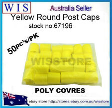 50pcs/PK Yellow Round Post Safety Caps,Construction Safety Caps for Steel Post