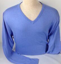 Polo Ralph Lauren Mens Sweater Blue Small Pima Cotton Long Sleeve Golf