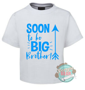 Soon to be BIG BROTHER. Custom printed Boys T-shirt. Blue, Red or White tee