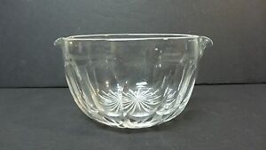 NICE 19th C. ANTIQUE PANEL CUT WINE GLASS RINSER / COOLER, STAR CUT BASE