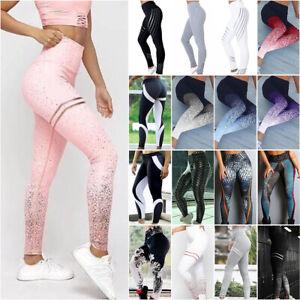 Women Yoga Pant Legging Sport Gym Jogger Fitness Workout Ladies Trouser Bottom