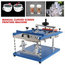 New listing Curve Manual Bottles/Cups/Mugs/Tubes/P en Silk Screen Printing Machine Printer us
