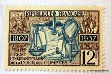 FRANCE COUR DES COMPTES  1957 TIMBRE N° 1107  NEUF ** LUXE GOMME D'ORIGINE  B4