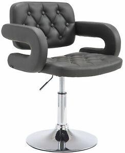 #LA97969/0809 Lounger Dublin Kunstleder grau Drehstuhl Polsterstuhl Stuhl