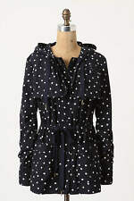 Anthropologie Rain Dotted Anorak Daughters of Liberation Polka Dot Raincoat 2 XS