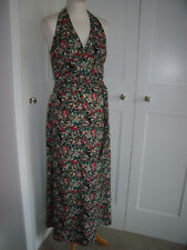 Boohoo halterneck silky floral maxi dress size 12 nearly new