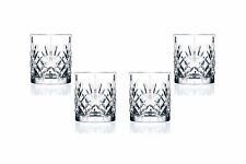 Melodia DOF Stemless Glasses 10.5 Oz, Crystal Cut Party Glassware Set of (4)