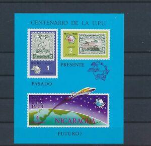 LO40979 Nicaragua 1974 UPU centenary good sheet MNH