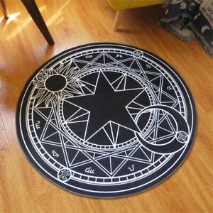 Anime Card Captor SAKURA Magic Circle Round Area Rug Carpet Floor Mat Home Decor