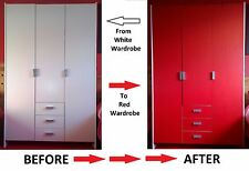 Gloss Bedroom Furniture Unit Cover Vinyl Film For Beds Drawers Doors Cupboard*