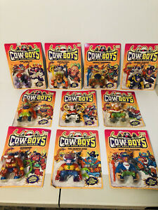 Cowboys of Moo Mesa Action Figure Complete Set of 10 (1991 Hasbro) All Sealed!!