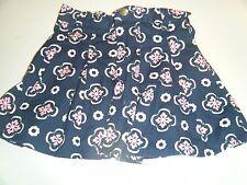 Gymboree Smart Girls Rule Size 6 Skort Adjustable waist pink/blue Flowers EUC