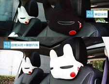 2pcs Lovely Creative  Rabbit  Auto Car Neck Rest Cushion Headrest Pillow Mat