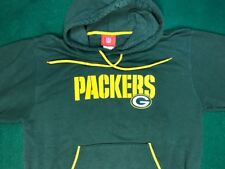 NFL GREEN BAY PACKERS HOODIE/SWEATSHIRT Embroidered Size Medium Green/Yellow New