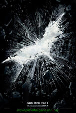 DARK KNIGHT RISES MOVIE POSTER DS 27x40 Advance Style CHRISTOPHER NOLAN  BATMAN