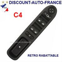 platine bouton 4 leve vitre CITROEN C4  retro rabattable 6554.GZ  - AVEC SUPPORT