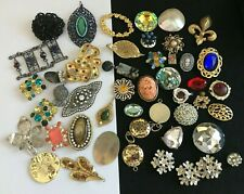 Jewelry Bits and Pieces, Crafts, Pendants, Rhinestones, MOP, Harvest