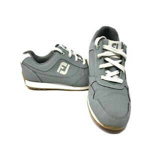 Footjoy Sport Retro 92385 Womens Gray Spikeless Golf Shoes Size 8 M EXCELLENT